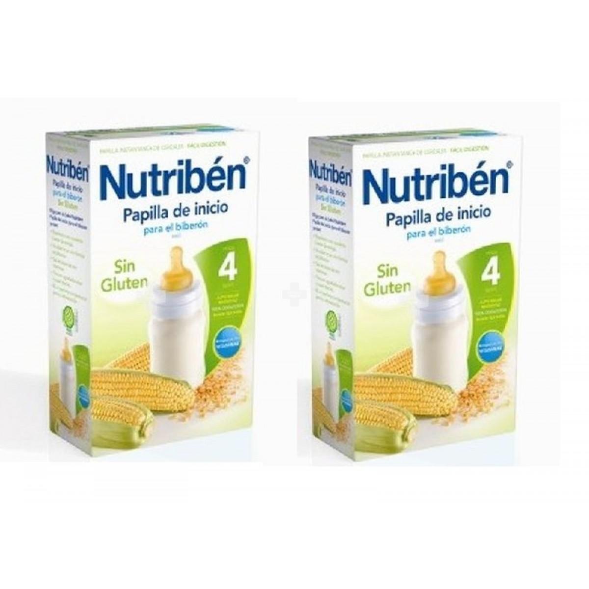 Oferta nutriben cereales sin gluten inicio biberon 2x600 g - Cereales sin gluten bebe 3 meses ...