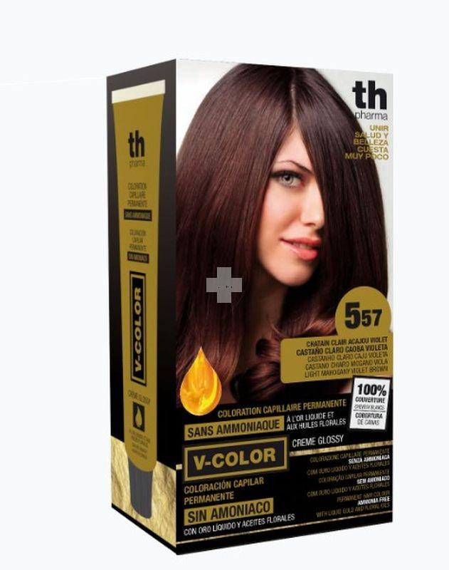 TINTE V-COLOR TH PHARMA castaño claro caoba violeta 557