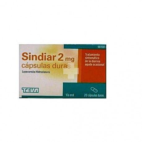 SINDIAR 2 mg 20 CAPSULAS DURAS