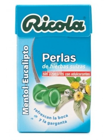 RICOLA PERLAS EUCAL MENTOL S/AZ