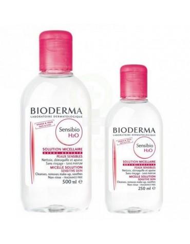 Pack Sensibio Solución Micelar Bioderma 500 ml + Envase Gratis de 250 ML. Desmaquilla cara y ojos con suavidad.