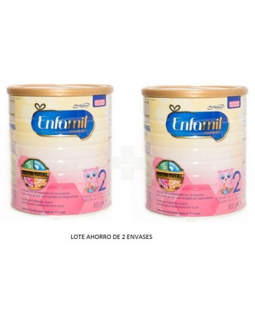 Oferta Enfamil 2 Premium ( 2X800 g) leche con vitaminas y minerales para ayudar al crecimiento de bebé
