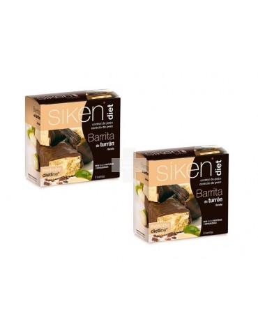 Siken Diet Barrita Turrón ( 2 envases de 5 unidades)