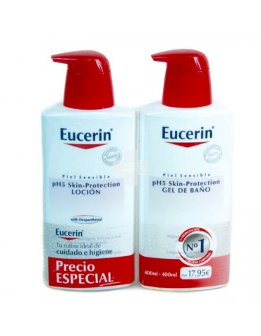 Eucerin Pack loción 400 ml + gel de baño 400 ml