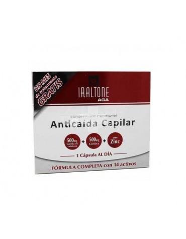Iraltone AGA pack 2X60 cápsulas para la caída del cabello, la segunda al 50% de descuento