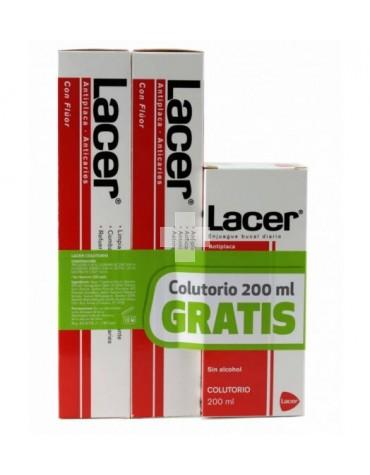 LACER PASTA 2X125ML COLUTORIO GRATIS