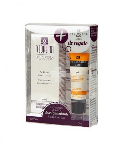 Neoretin Discrom Sérum + Heliocare Gel Oil Free, para prevenir la aparición de manchas