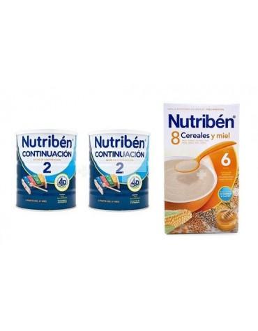 NUTRIBEN CONTINUACION 2X800 G + 8 CER Y MIEL 600 G