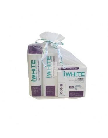 Iwhite Promo Ahorro: Colutorio 500 ml + Pasta Blanqueadora 70 ml + Kit 10 Moldes Blanqueadores
