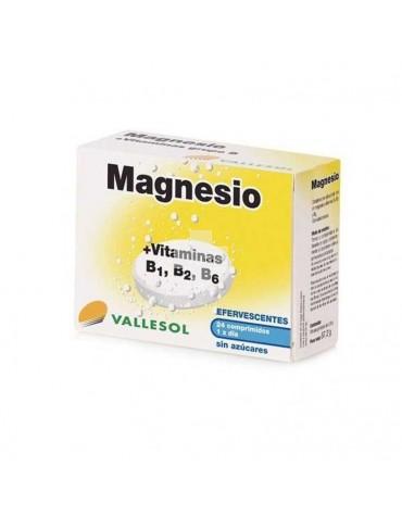 Magnesio + Vitaminas B1, B2, B6 Efervescente Vallesol