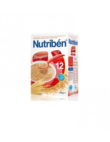 Nutriben Desayuno Papilla Copos de trigo 750 gramos