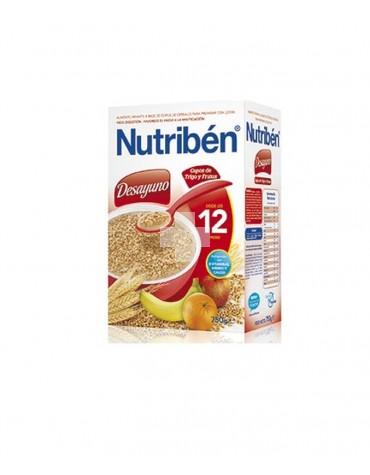 Nutriben Desayuno Papilla Copos de Trigo y Frutas 750 gramos