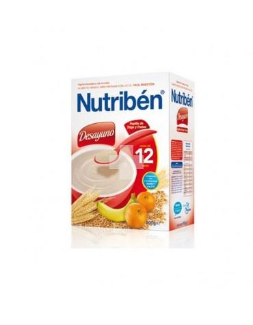 Nutribén Desayuno Papilla de Trigo y Frutas 600 gramos