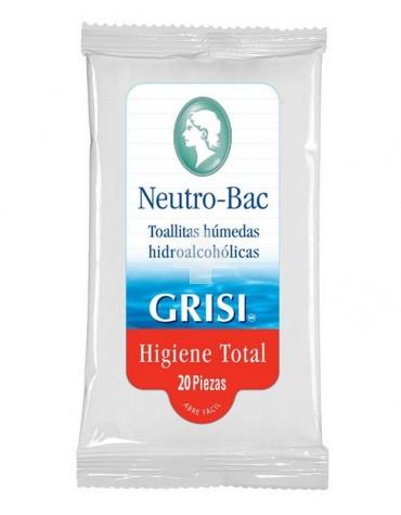 GRISI NEUTRO-BAC TOALLITAS HUMEDAS HIDROALCOHOL