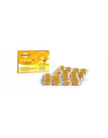 Juanola Própolis 24 pastillas blandas, con miel, zinc y vitamina C