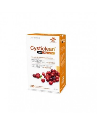Cysticlean Forte 240 mg 30 cápsulas. Prevención y tratamiento de la cistitis.