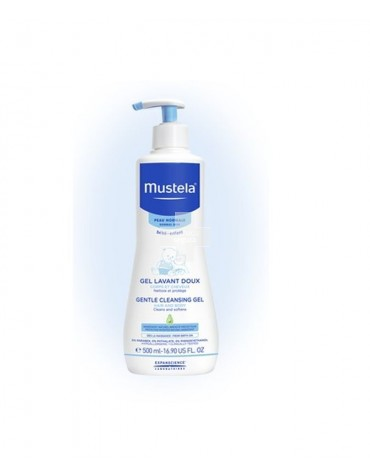 Mustela Gel De Baño Suave 500ml. Ideal para utilizarlo a diario desde el nacimiento.