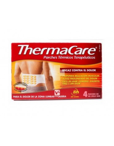 Thermacare parches térmicos zona lumbar/cadera 4 parches