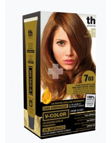 TINTE V-COLOR TH PHARMA tinte rubio medio natural dorado 703