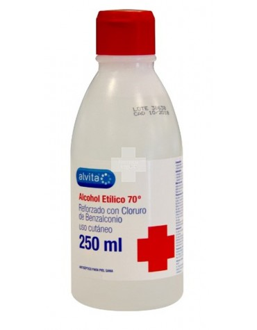 ALCOHOL ETILICO 70º ALVITA 250 ML