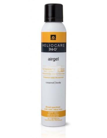 Heliocare 360º spf 50 fluido airgel corporal protector solar 200 ml, para todo tipo de piel, cómoda aplicación, acabado invisible