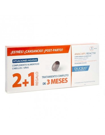 ANACAPS REACTIV, 3x30 Cápsulas - Pack Ahorro