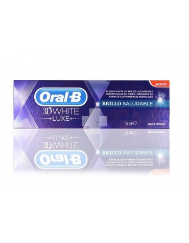 ORAL-B 3DWHITE LUXE BRILLO SALUDABLE PASTA DENTA