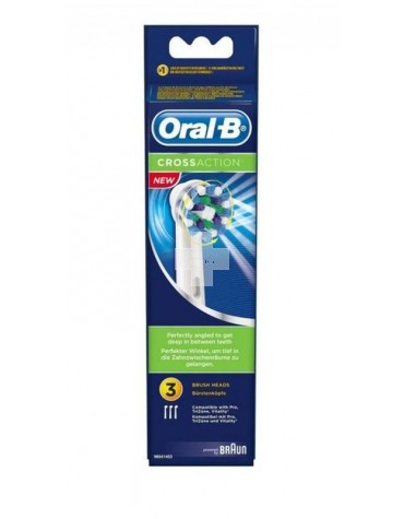 Recambio Oral-B CrossAction 3+1 uds