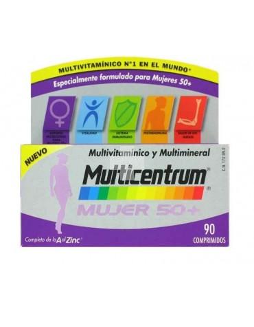 Multicentrum Mujer 50 + 90 comprimidos reforzado para las necesidades de la mujer