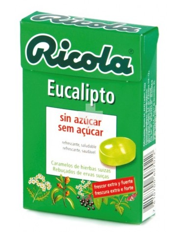 RICOLA CARAMELOS EUCALIPTUS SIN AZUCAR 50 GR