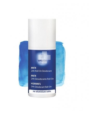 Weleda Desodorante Roll-on 24H Men, frescor natural sin sales de aluminio