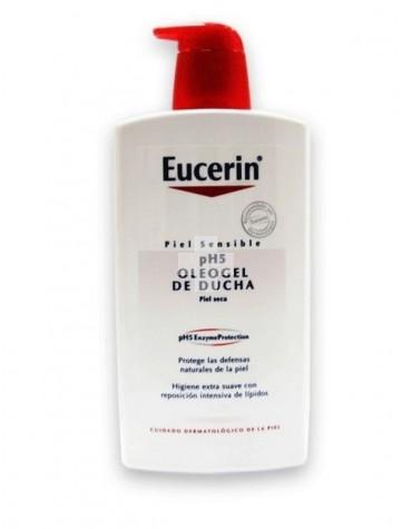 Eucerin Oleogel De Ducha  Piel Seca 1L. Indicado para pieles secas y sensibles.