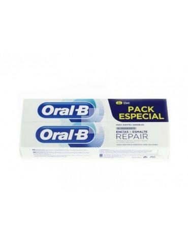 ORAL-B PASTA ENCIAS Y ESMALTE BLANQUEADORA 2X125 ML(dientes sensibles)