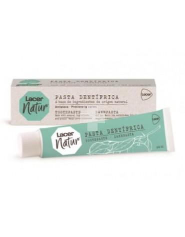 Lacer Natur Pasta 100ml. Formulada con extractos vegetales, mantiene la boca y los dientes sanos.