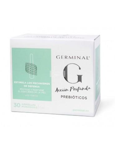 Germinal Acción Profunda Prebióticos 30 ampollas deja la piel más homogénea y corrige imperfecciones