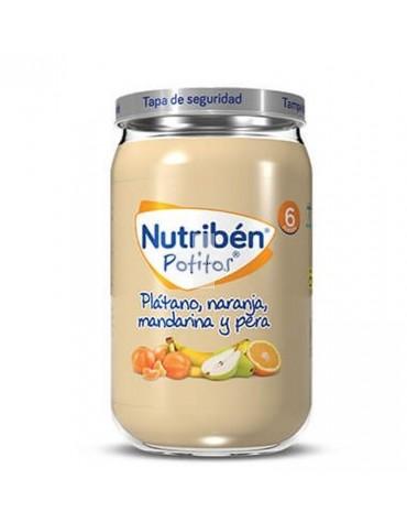 Nutribén Potito Plátano Naranja Mandarina Pera 235 g