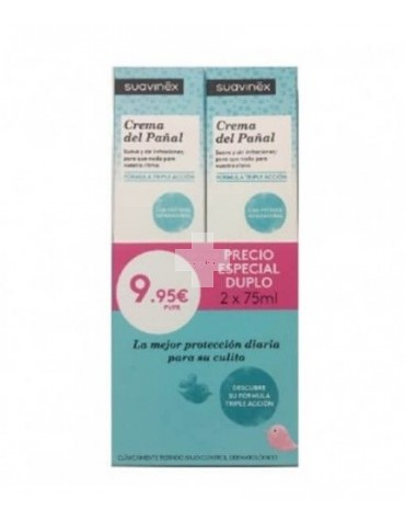 Suavinex Duplo Crema del Pañal protege de irritaciones producidas por el uso del pañal