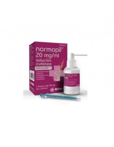 Normopil 20 mg/ml solución cutánea,1 frascos de 90 ml