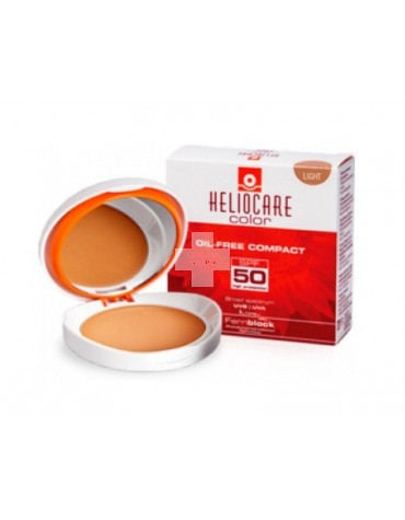 Heliocare Compacto Oil-Free Light Spf 50 Color Light