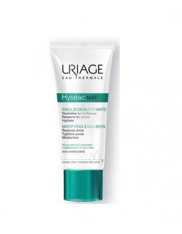 Uriage Hyseac Emulsión Matificante 40 ml. Matifica, hidrata y cierra los poros de las pieles mixtas y grasas.
