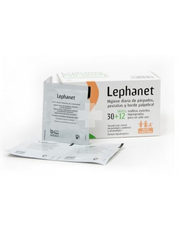 Lephanet 30 toallitas Limpia párpados