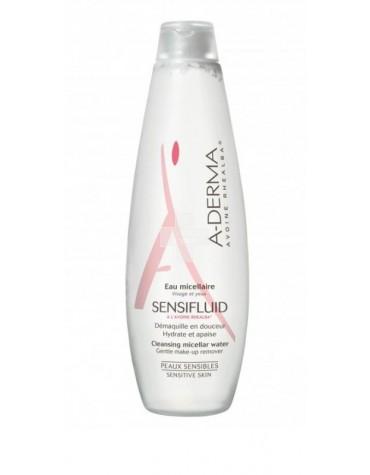 Agua Micelar A-Derma Sensifluid 500 ml. Desmaquilla pieles sensibles.