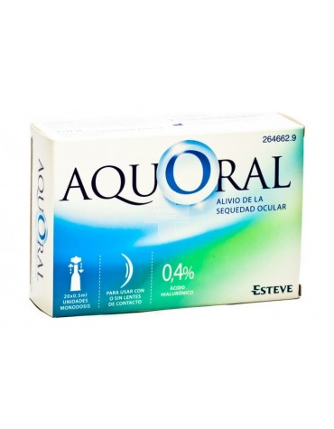 AQUORAL GOTAS OFTAL 0,5 ML 20 U