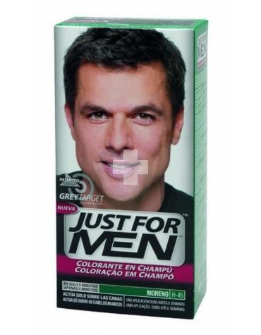 Just For Men Moreno, y luce un pelo bonito sin canas