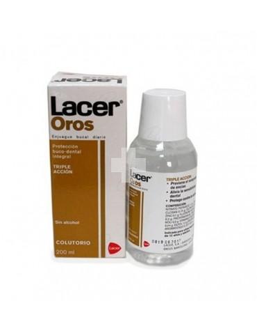 Lacer Oros Colutorio 200ml. Previene el sangrado, alivia la sensibilidad dental y protege contra caries.