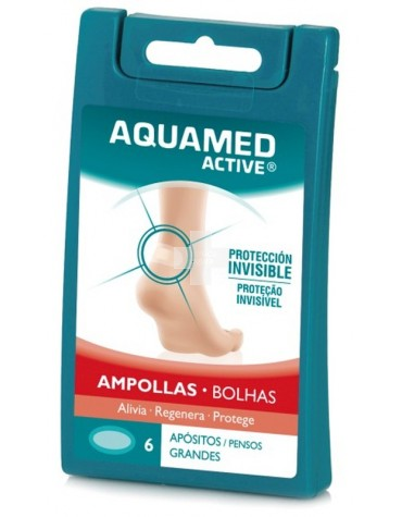 Aquamed active  ampollas 6 apósitos grandes