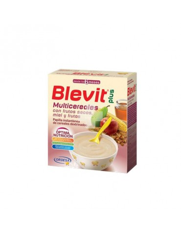 Blevit plus Multicereales con frutos secos, miel y frutas 600 g
