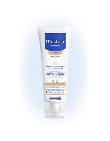 Mustela Crema Nutritiva Al Cold Cream 40 ml. Hidrata de forma inmediata la piel seca de la cara de bebés y niños.