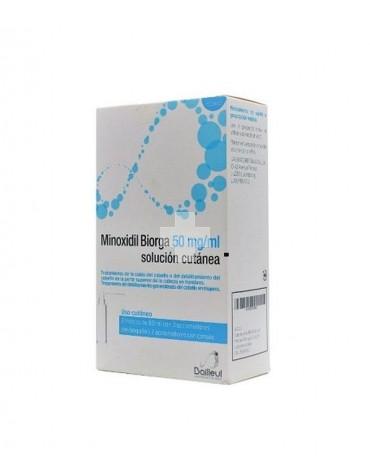 Minoxidil Biorga 50 mg/ml solución cutánea 3X60 ml