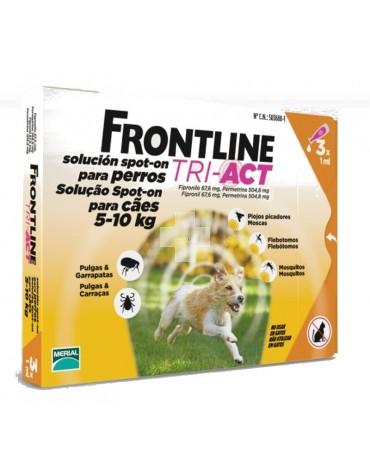 FRONTLINE TRI-ACT 5-10 KG, 3 PIPETAS